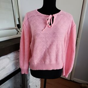 Sweaters - Vintage bright pink sweater. Size Large.